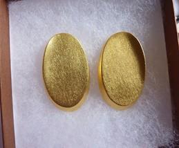 Vintage Retro Modernist Signed Lee Wolfe Clip On Earrings - $29.35