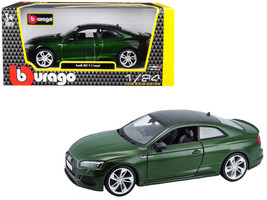 Audi RS 5 Coupe Metallic Green Metallic with Black Top 1/24 Diecast Model Car by - $37.09