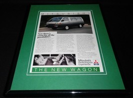 1987 Mitsubishi Wagon 11x14 Framed ORIGINAL Vintage Advertisement - $32.36