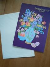 Vintage Millen Floral Easter Card Unused - $2.99