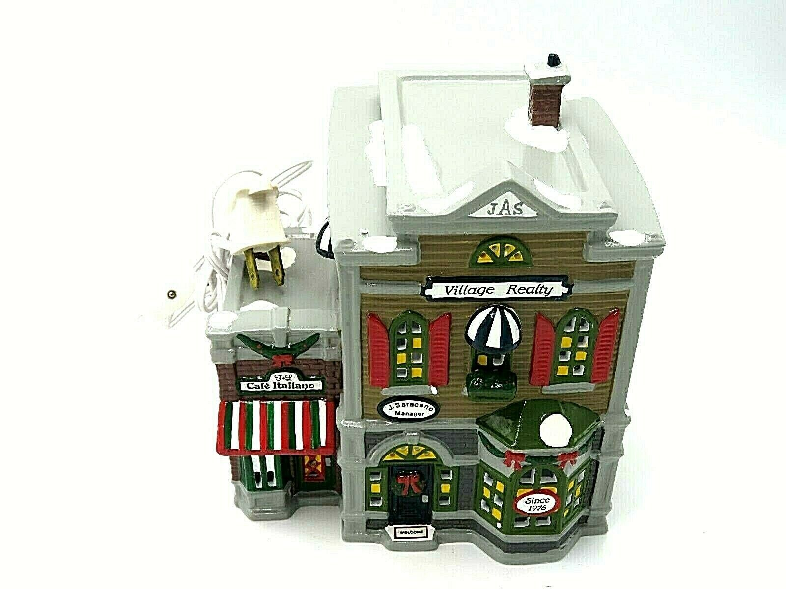 "Department 56 Snow Village ""Village Realty"" with Original Box 5154-3 - $49.95"