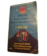 Dreams, Lucky Numbers, Omens, Oils And Incense By Zolar 1977 Arco Paperb... - $11.65