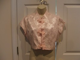 Nwt Frederick's Of Hollywood Pink Oriental Crop Jacket Made In Usa Size Medium - $16.33