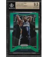 Zion Williamson Prizm 19-20 #248 Green Prizm Rookie Card BGS 9.5 Pelicans - $500.00