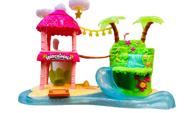 Hatchimals CollEGGtibles Tropical Party Playset with Lights Sounds Kids Toy - $34.65