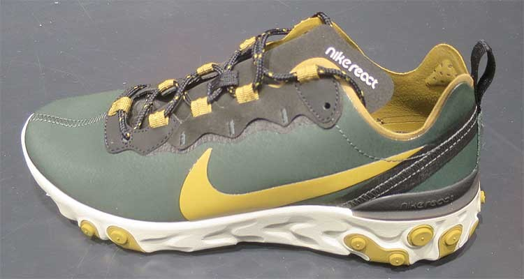 0ea175ef13324 Nike React Element 55 Outdoor Green Golden and 50 similar items