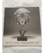 African Oceanic and Pre-Columbian Art Sotheby Catalog Parke Bernet Inc N... - $34.60