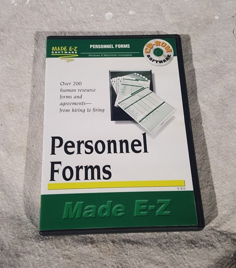 EZ Legal Personnel Forms For PC Mac CDROM And Similar Items - Ez legal forms