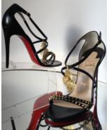 NEW RARE CHRISTIAN LOUBOUTIN Filigree Heart Strappy Heels (Size 40.5) - ... - $999.95