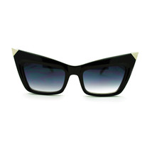 Womens Rectangular Cat Eye Devil Metal Horn Runway Fashion Novelty Sungl... - $7.95