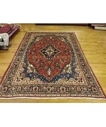 GORGEOUS SEMI ANTIQUE PERSIAN KASHAN RUG 6.6 X 9.2 LA120 - $690.00