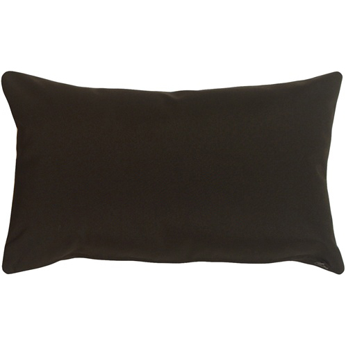 Pillow Decor - Sunbrella Black 12x19 Outdoor Pillow