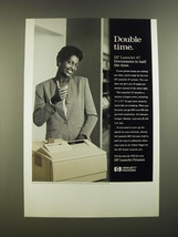 1995 Hewlett Packard HP LaserJet 4V Printer Ad - Double Time - $14.99