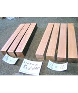 SEVEN turning blanks, Wormy Red Oak, 12 inches x 1 1/2 and 1 3/4 bz - $18.98
