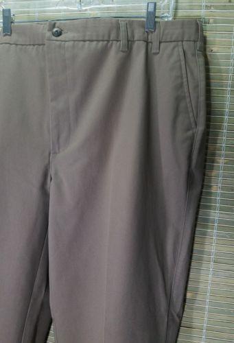 ST. JOHN'S BAY MEN'S CLASSIC FIT COTTON COMFORT EASE WAISTBAND PANTS JAVA 44X32