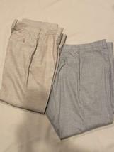 Giorgio Armani Pants 2 Pair Slacks Flat Front Light for Spring Summer 50 IT - $93.10
