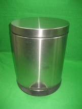 Vintage Stainless Steel Trash Can Garbage Trash Can Waste Basket with Pedal - $16.78