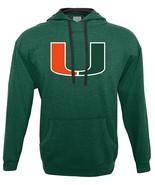NCAA Miami Hurricanes Men's Hood 50/50 Fleece Top, Green, Medium - $27.95