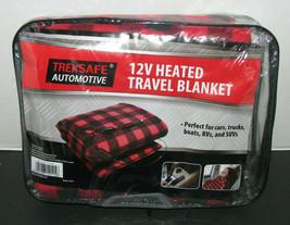 Treksafe Automotive12V Heated Travel Blanket Red & Black - $24.98