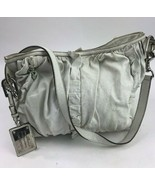 Dolce & Gabbana Miss Brooke White Leather Handbag Ruffle Pleat Purse Strap - $84.14