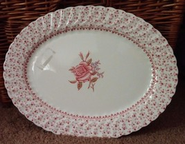 """Rose Bouquet by Johnson Bros Made in England 12"""" Oval Serving Platter Ir... - $35.52"""