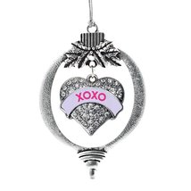 Inspired Silver XOXO Purple Candy Pave Heart Holiday Ornament - $14.69