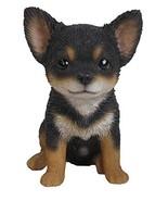 Hi-Line Gift Ltd Chihuahua Puppy Statue, Black/Brown - $29.12