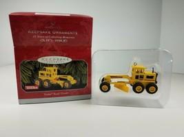 Hallmark 1998 Keepsake Ornament Yellow Tonka Road Grader - $9.65