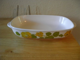 "NORITAKE PROGRESSION FLOWER TIME 9072 RECT CASSEROLE DISH 9"" LGTH X 6.25"" - €20,11 EUR"