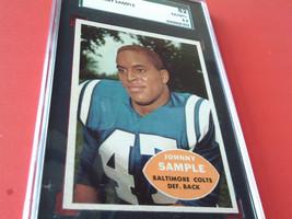 1960   JOHNNY  SAMPLE  #  9  TOPPS   SGC  82    BALTIMORE  COLTS   FOOTB... - $39.99
