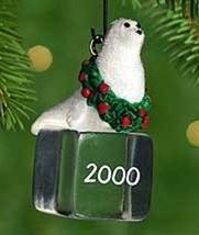 Hallmark 2000 Ice Block Buddies #1 Seal Miniature Ornament - $4.95