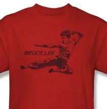 Bruce Lee T-shirt Flying Kick Free Shipping retro Enter Dragon cotton tee BLE157 image 1