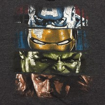 Marvel Avengers Mens Charcoal Gray T-Shirt  Captain America Thor Iron Man Large - $9.89