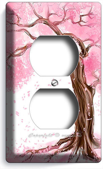 JAPANESE SAKURA TREE ROOTS CHERRY BLOSSOM OUTLET WALL PLATES BEDROOM HOME DECOR