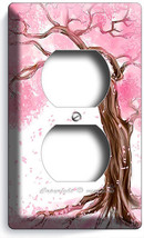 Japanese Sakura Tree Roots Cherry Blossom Outlet Wall Plates Bedroom Home Decor - $8.07