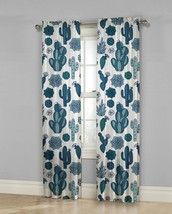 Mainstays Scottsdale 2 Piece Curtain Panel Set Blue, 50 in x 84 in - $16.83