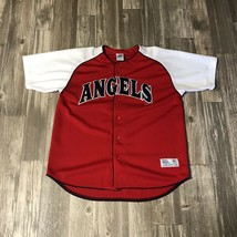 Anaheim Angels 2003 Sewn Embroidered MLB Baseball Dynasty Jersey Size Large  - $24.99