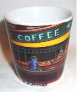 Starbucks Coffee Espresso Shotglass Nighthawks Diner D. Burrows - $18.99