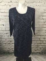 Liz Lange Maternity Dress Blue Heather Womens Sz XXL - $15.84