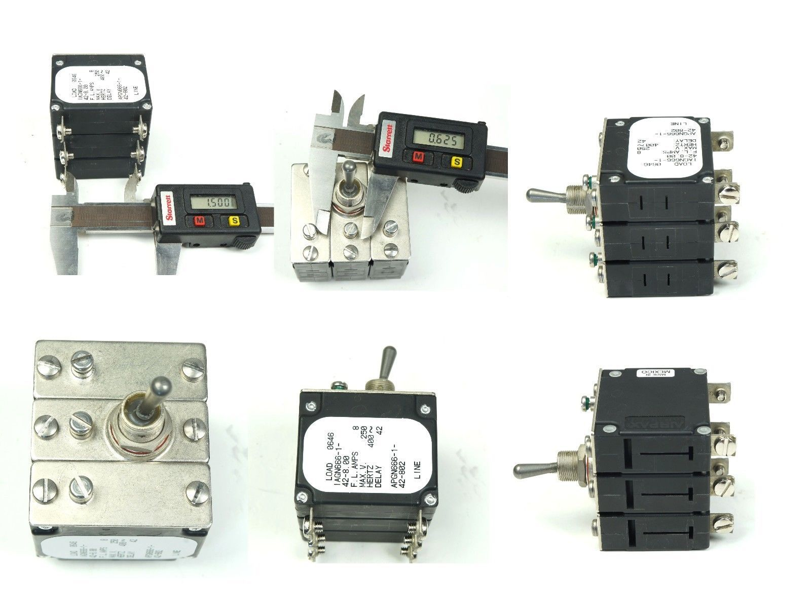 Airpax Iagn666 1 42 8 Sealed Toggle Circuit And 39 Similar Items Square D Qob115 Bolt On Breaker 1pole 120vac 15 Amp 400 Hz 3 Pole