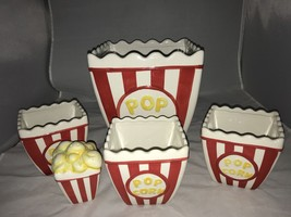 Alco Ceramic Popcorn 5 pc Serving Set with 1 large bowl, 3 small bowls, ... - $35.31