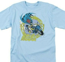 Batgirl T-shirt Batman Robin vintage DC comics Gotham blue cotton graphic tee image 1