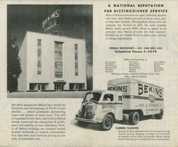 1947 Fresno CA Street Map Belkins Moving Van & Storage COE Trucks Califo... - $10.00