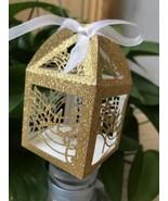 100pcs Music Note Glitter Gold laser cut favor boxes,laser cut wedding f... - $48.00