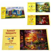 Lot 4 SunsOut Large Format 300 Pieces Puzzles Complete - $24.74