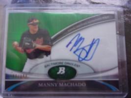 2011 MANNY MACHADO BOWMAN PLATINUM RC AUTOGRAPH #203/399 VERY RARE GREAT... - $50.00