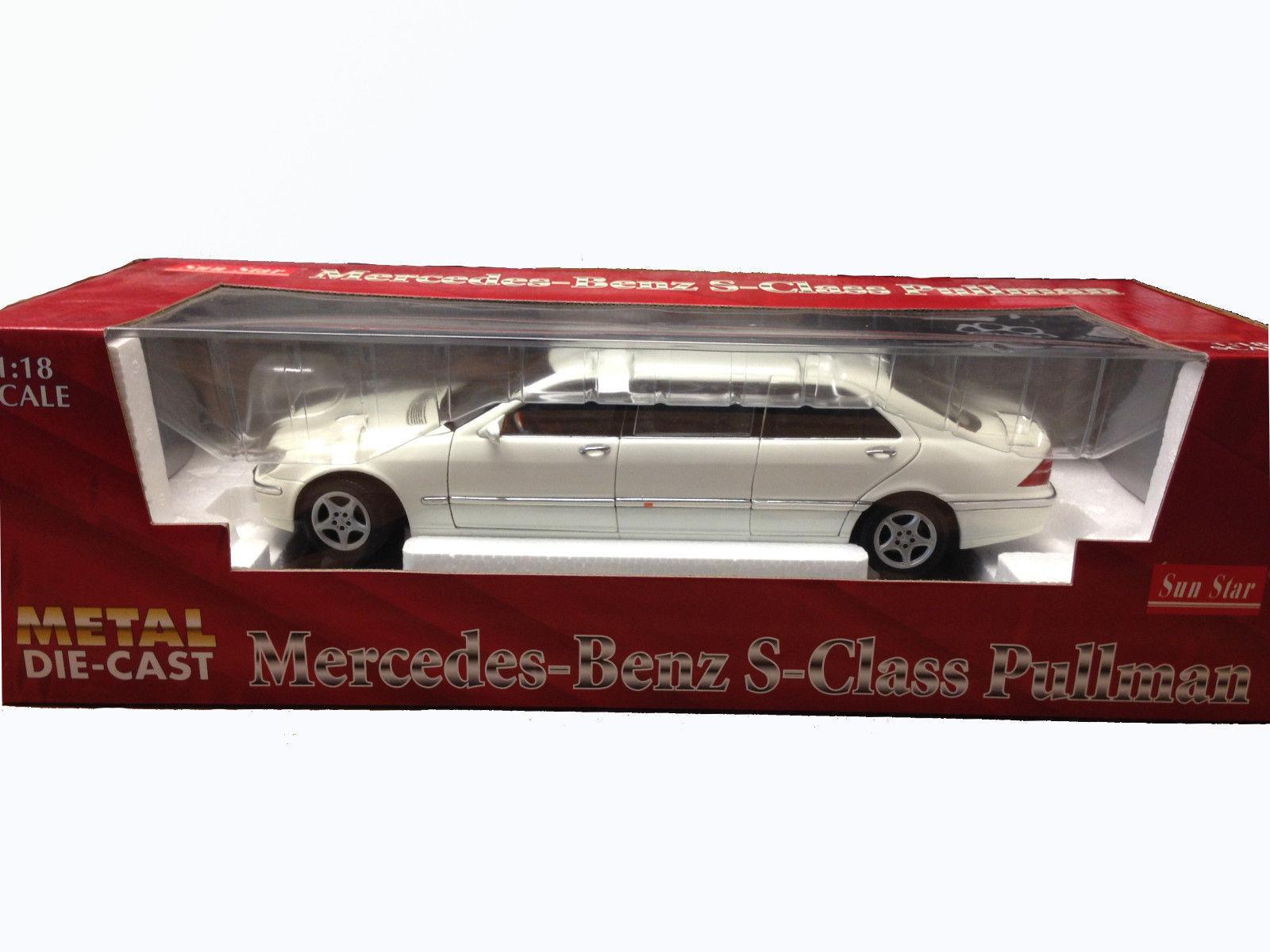 Sun Star white Mercedes-Benz S-Class Pullman DIECAST SCALE 1:18 #2203