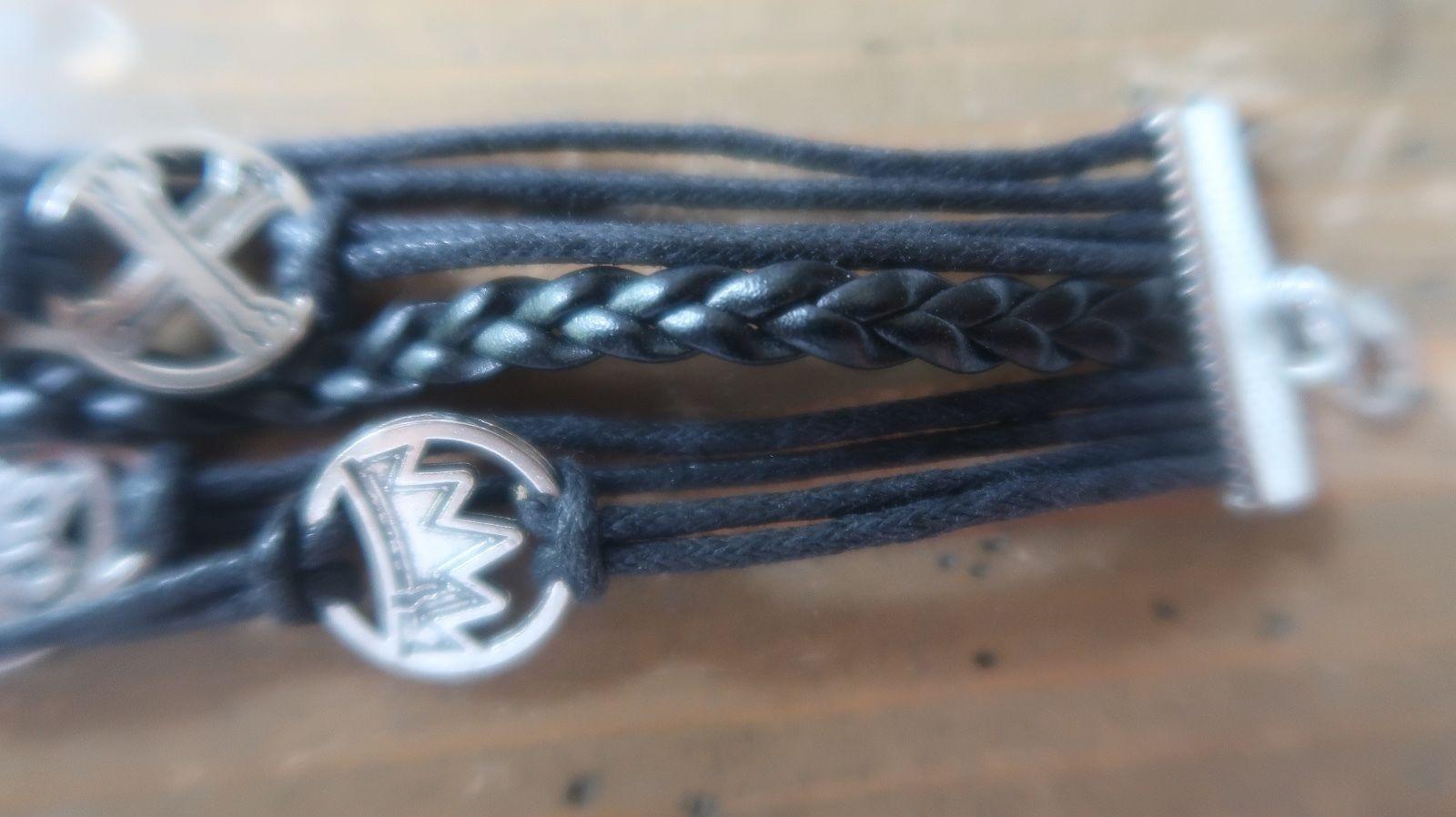 2005 Disney Leather Bracelet 6.25 inches