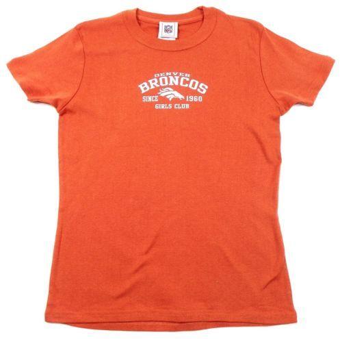 Junior Women's Large Denver Broncos NFL Girls Club 1960 Tee Shirt T-Shirt NEW
