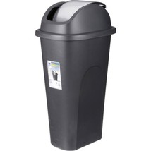 Kitchen Trash Can 11 Gallon Swing Lid Bathroom Office Plastic Slim Waste... - $17.81
